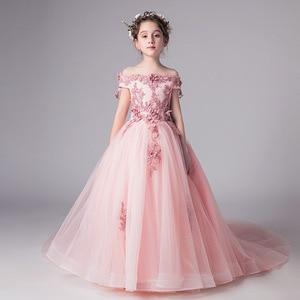 Image 3 - ロマンチックなウェディング花嫁介添人ドレス 2019 新ビーズ装飾ロングレースドレスフラワーガールのパーティードレス