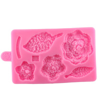 DIY Knitting Fondant Mold Flower Leaf Cake Decorating Tools Candy Chocolate Clay Molds Baby Birthday Cake Border Silicone A1460