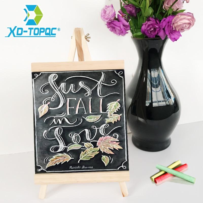 XINDI 20*36cm MDF Desktop Bulletin Blackboard New Pine Wood Easel Chalk Board Kids Wooden Message Chalkboard Drawing Boards BB72(China)