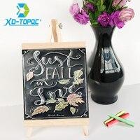 XINDI 20 36cm MDF Desktop Bulletin Blackboard New Pine Wood Easel Chalk Board Kids Wooden Message