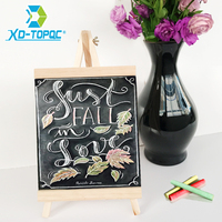 XINDI 20 36cm MDF Desktop Bulletin Blackboard New Pine Wood Easel Chalk Board Kids Wooden Message
