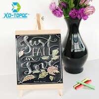 XINDI 20*36cm MDF Desktop Bulletin Blackboard New Pine Wood Easel Chalk Board Kids Wooden Message Chalkboard Drawing Boards BB72