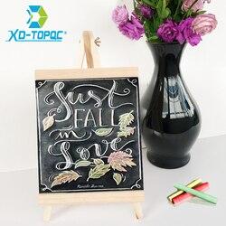 Xindi 20*36cm mdf desktop bulletin blackboard nova madeira de pinho cavalete chalk board crianças de madeira mensagem quadro de desenho bb72