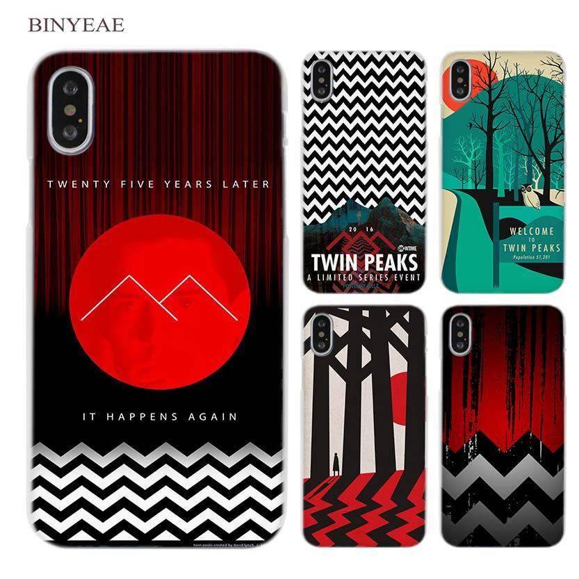 Binyeae Добро пожаловать Твин Пикс Ясно сотовый телефон чехол для Apple IPhone X 6 6S 7 8 плюс 4 4S 5 5S SE 5C ...