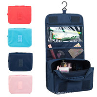 New 2016 Portable Hanging Organizer Bag Foldable Cosmetic Makeup Case Storage Traveling Toiletry Bags Wash Bathroom