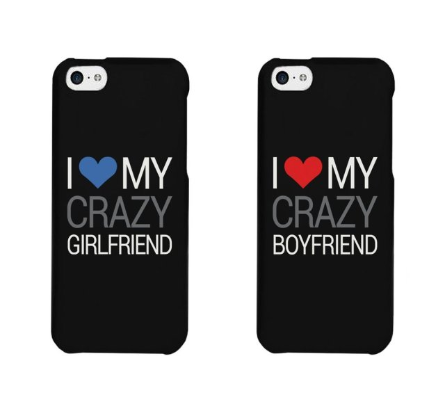 huge selection of 06bc5 c4c5f US $19.0 |I Love My Crazy Bf and Gf cover case for Samsung s2 s3 s4 s5 mini  s6 s7 Note 2 3 4 5 iPhone 4s 5s SE 5c 6 6s plus BlackBerry Q10 on ...
