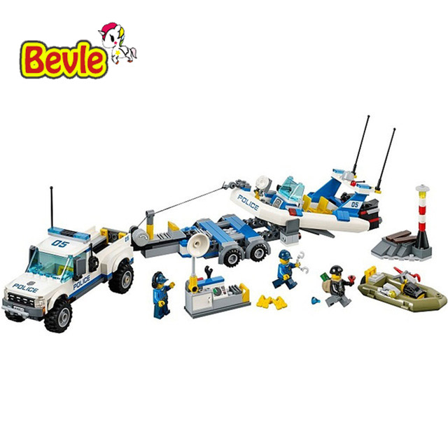 Bevle Bela 10421 Urban City Police Patrol Car Building Block Toys Compatible with Lepin 60045 compatible lepin city block police dog unit 60045 building bricks bela 10419 policeman toys for children 011