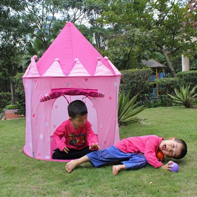 Kids Playing Tents Children Baby Portable Folding Play Playhouse Garden Outdoor Castle Toys House