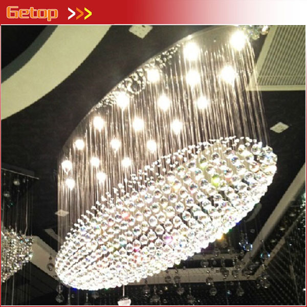 Best Price LED Oval Crystal Chandeliers Restaurant Lights Modern Luxury Hotel Villa Round Engineering Lights z best price european luxury golden round crystal chandeliers light home foyer lamps hotel restaurant clubs bedroom droplights