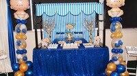 Wholesale 10PCS Royal Blue Sequin Tablecloth Wedding Cake Tablecloth Rectangle Sequin Table for Wedding Decoration90x156inch