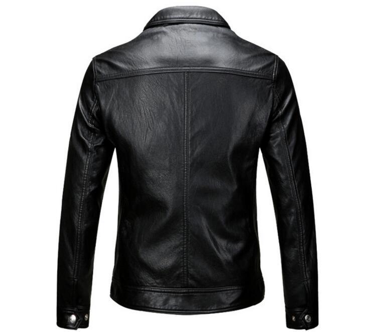 Simple En Noir Veste Chaude Cuir 3xl Revers Pu Mode M Printemps Nouvelle De Mince 2019 Hommes Moto OkiZPXuT