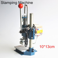 Manual Hot Foil Stamping Machine Foil Stamper Printer Leather Embossing Machine (10X13cm) 220V/110V