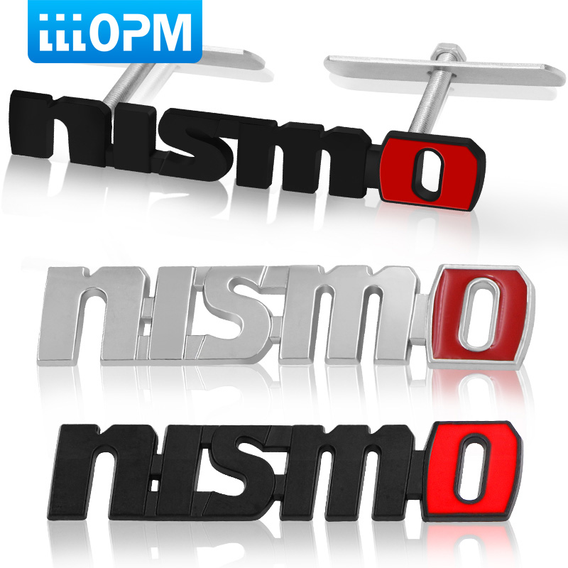 Chrome NISMO Auto Car Stickers Badge Emblem Car Styling For Nissan Tiida Teana Skyline Juke X-trail Almera Qashqai Accessories