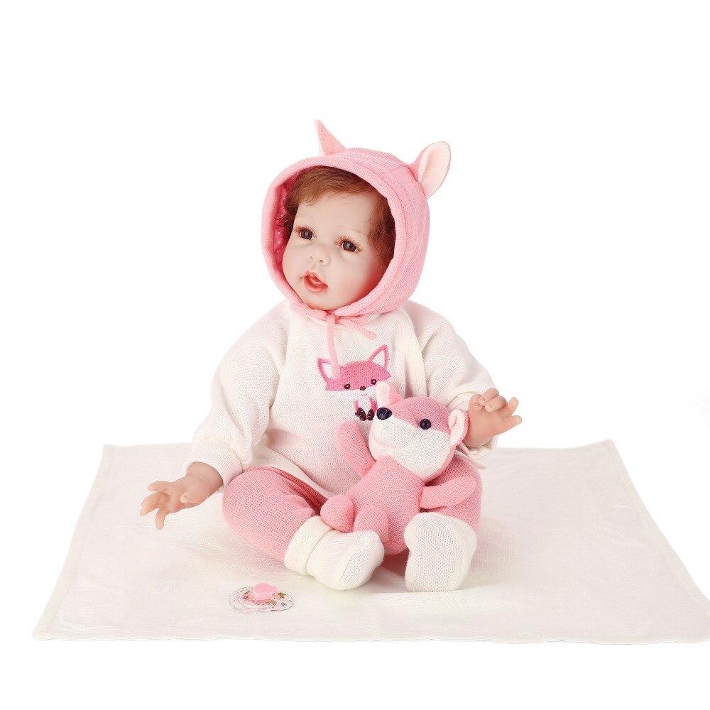 NPK bebe realista menina doll reborn lifelike girl reborn babies silicone dolls toys for children xmas gift bonecas for child