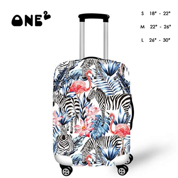 Fashion Design Travel Luggage Cover Stretchable Pulling Cloth Suitcase Protector Fits 18-20 Inches Luggage