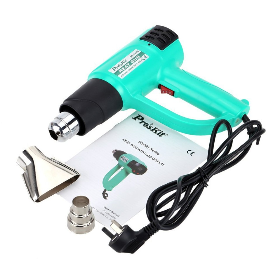Free Shipping SS-621H ProsKit Handheld Heat Gun with LCD Display Hot Air Welding Soldeing Gun 220V~240V,2000W ems dhl fast shipping 230v 3000w heat element for for heat gun handheld hot air plastic welder gun plastic welder accessories
