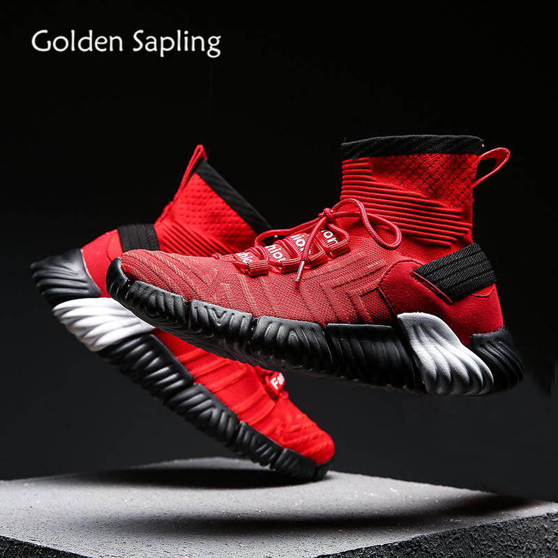 Golden Sapling Men Basketball Shoes High Top Mens Sneakers Breathable Air Mesh Classic Lace-up Sports Sneakers Shoes Men BasketGolden Sapling Men Basketball Shoes High Top Mens Sneakers Breathable Air Mesh Classic Lace-up Sports Sneakers Shoes Men Basket