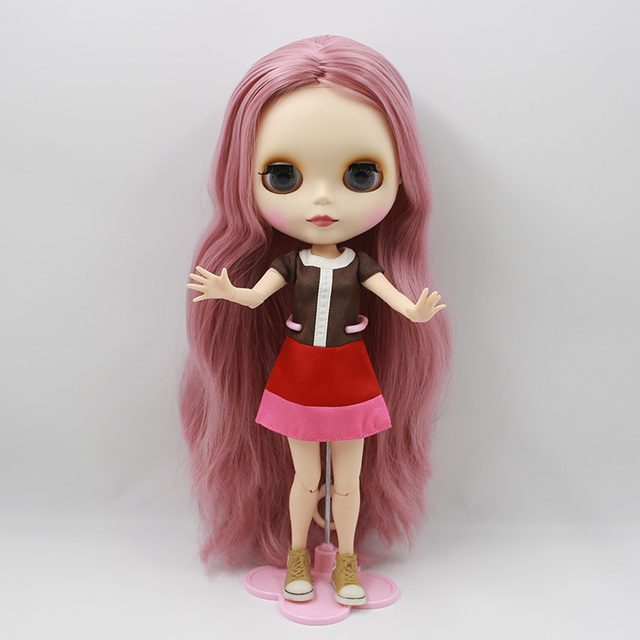 ICY Neo Blythe Doll Pink Hair Jointed Body 30cm