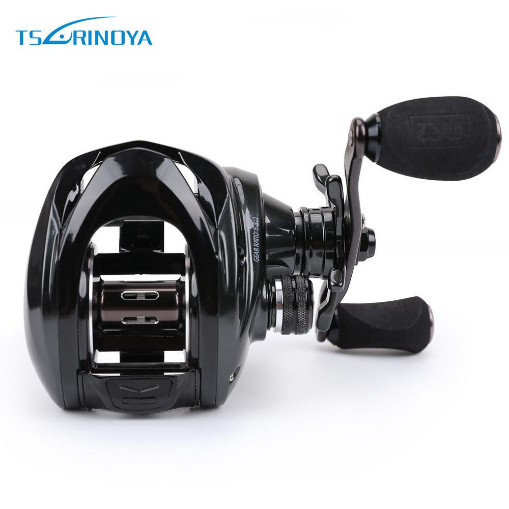 TSURINOYA 6.3:1 10 + 1BB Baitcasting Fishing Reel Left / Right Hand Max Drag Full Metal Fishing Lure reel 260g 10KG trulinoya full metal body baitcasting reel 7 0 1 10bb carbon fiber double brake bait casting fishing reel max drag 7kg