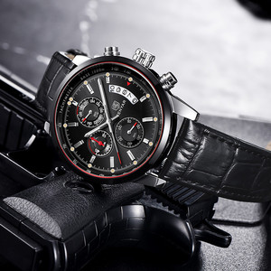Image 3 - BENYAR Mens Watches 2019 NewLuxury Brand Quartz Leather Watch Men Fashion Chronograph Wristwatch Sport Clock Relogio Masculino