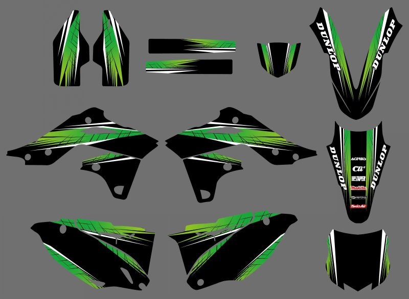 New Style 0434  Power TEAM GRAPHICS & BACKGROUNDS DECALS STICKERS Kits Fit for Kawasaki KX250F KXF250 2013-2014 литур 978 5 9780 0434 2