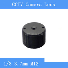 Factory direct monitoring cylindrical M12 threaded pinhole 3.7mm IR lens fixed focus CCTV lens