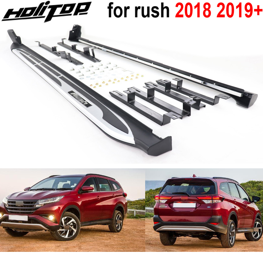 NEW ARRIVAL side step side bar running board for TOYOTA Rush 2018 2019 can load 300kg