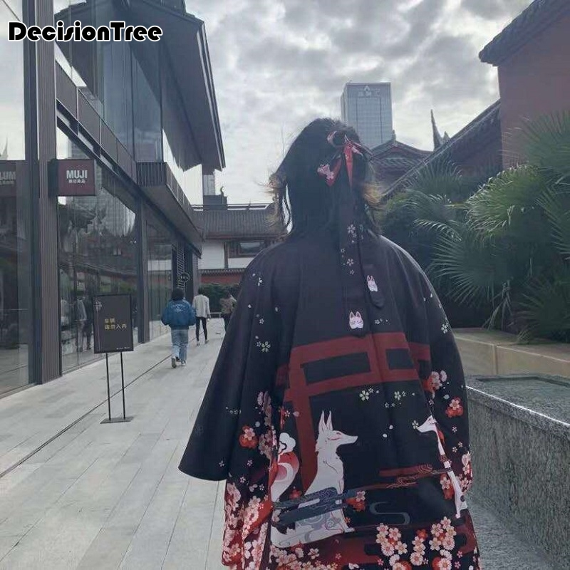 2019 Black Woman Lady Japanese Tradition Yukata Kimono With Obi Flower Vintage Evening Dress Cosplay Costume One