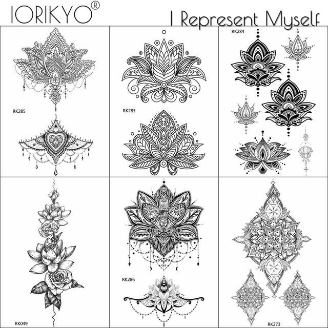 Sexy Charm Tribal Henna Flower Tattoo Stickers Women Chest Art