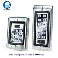RFID IP65 Водонепроницаемый контроль доступа металлический Автономный контроллер 125 кГц считыватель смарт-карт 12В/24В плата управления для воро...