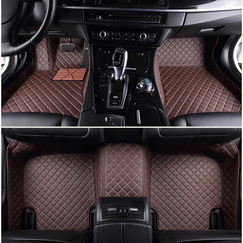 Custom car floor mats for Honda All Models CRV XRV Odyssey Jazz City crosstour S1 CRIDER VEZEL Accord auto footmats ACCESSORIES kalaisike leather universal car seat covers for honda all models crv xrv odyssey jazz city crosstour civic crider fit accord