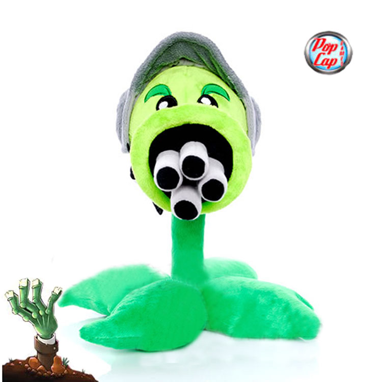 Star-Product-12inch-30cm-Lovely-Plant-Vs-Zombies-PopCap-Gatling-Peashooter-Plush-Toys1pcspack-1