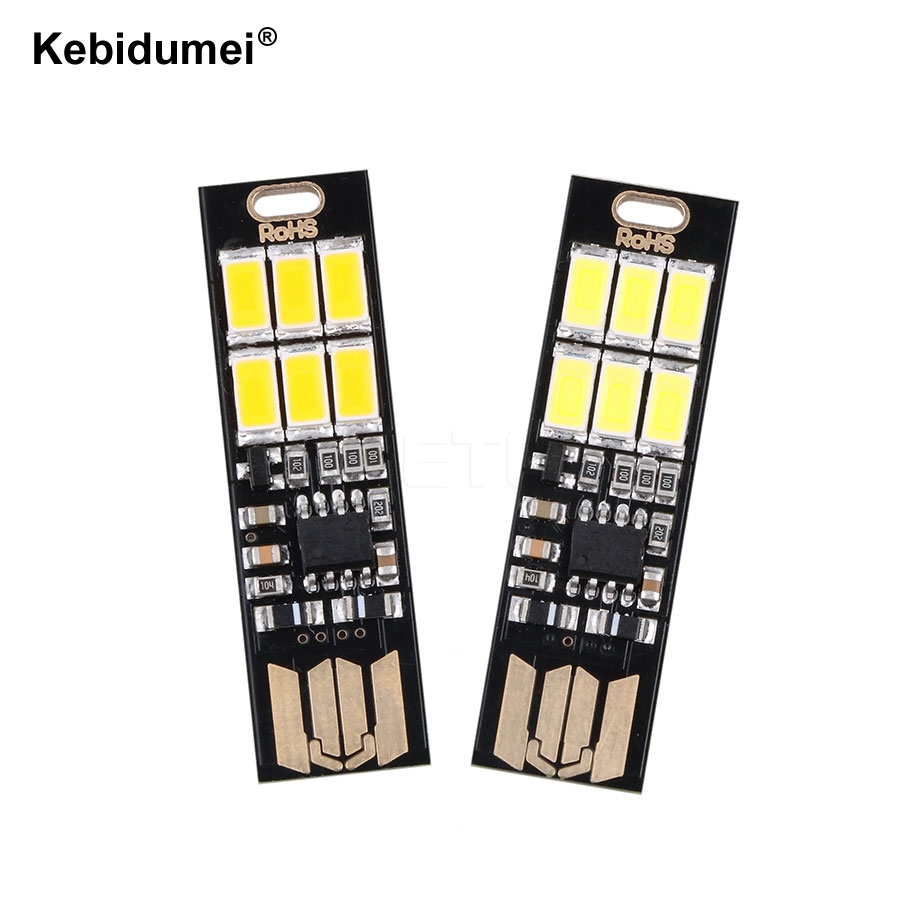 Chargers Hearty Kebidu 5v 1w Ultra Bright Portable Pocket Cool Mini Usb Led Light Usb Keychain Touch Dimmer Led Lamp For Power Bank Pc