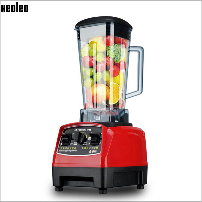 Xeoleo 2L Heavy Duty Commercial Blender Food Greater Material 2000W  Food Processing Machine with PC Jar Juicer Mixer BPA Free xeoleo 2l heavy duty commercial blender food greater material 2000w food processing machine with pc jar juicer mixer bpa free