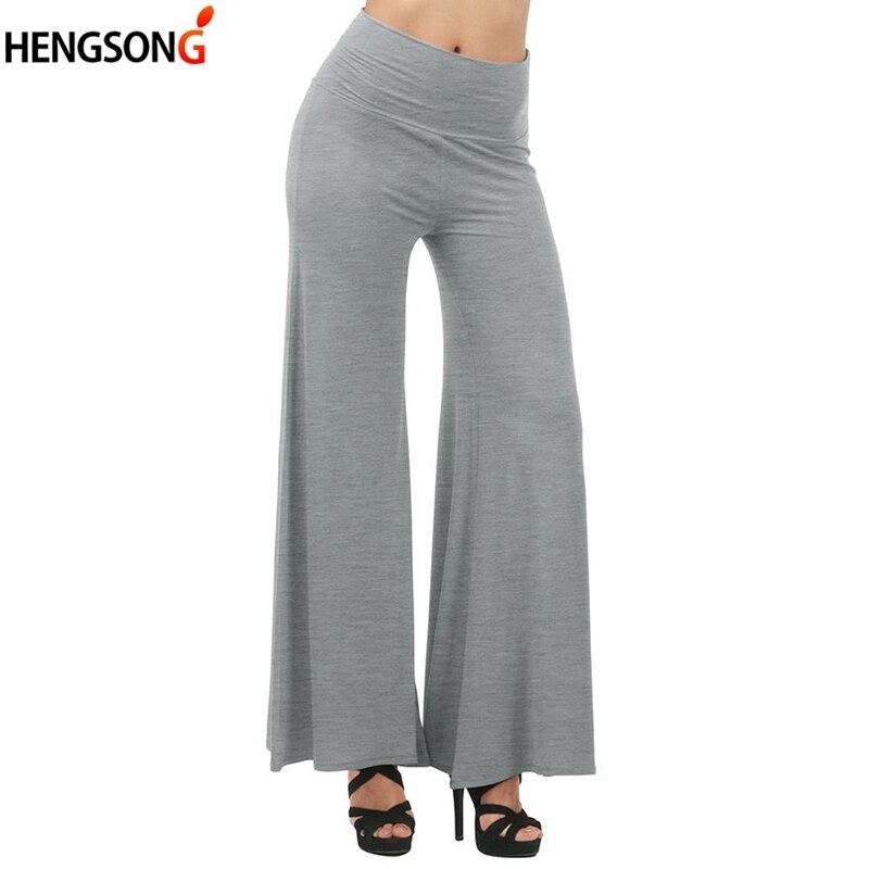 2018 Autumn Casual Loose Trousers Women's Pants High Waist Black White Grey Pants Female Wide Leg Pants Pantalon