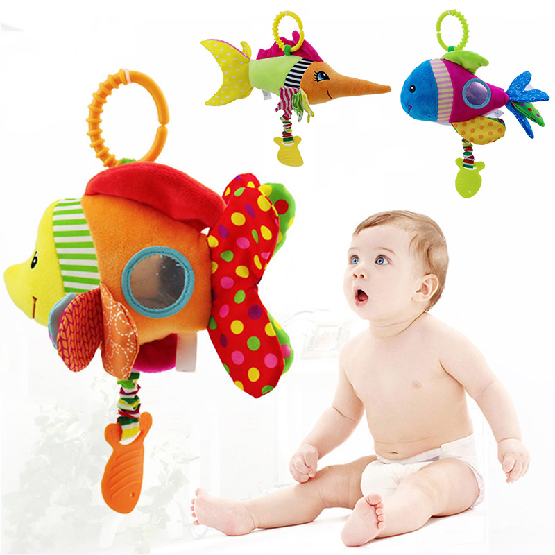 Activity & Gear Cute Fish Hanging Bed Toy Bell Soft Plush Educational For Children Baby Stroller Yjs Dropship As Effectively As A Fairy Does Strollers Accessories