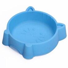Pet-Bowl Cat Pet-Feeding-Supplies Plastic Face Multipurpose Creative Portable