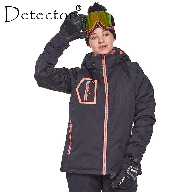 Détecteur de Femmes D'hiver En Plein Air Ski Snowboard Veste Ski Vêtements Femmes Coupe-Vent Imperméable Manteau Chaud Vêtements