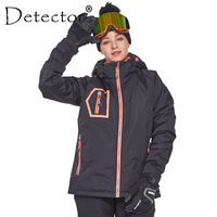 Detector Women's Winter Outdoor Ski Snowboard Jacket Ski Clothing Women Waterproof Windproof Coat Warm Clothes