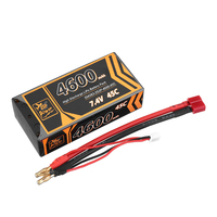 ZOP Power 7.4V 4600mAh 45C 2S Lipo Battery T Plug  for RC HPI HSP 1/8 1/10 Buggy RC Car Axial Scx10