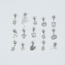 Mix 30pcs Vintage silver plated  Metal Marine life Charms Marine life pendant for DIY jewelry  making mix 30pcs vintage silver plated metal key charms key pendant for diy jewelry making