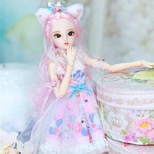 Image 3 - Dbs Doll1/4 Bjd Dairy Queen Naam Door Rebecca Roze Haar Mechanische Joint Body Meisjes, Sd