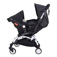 Портативный детская складная коляска 4 в 1 алюминиевого сплава коляска легкая коляска и Портативный корзина + новорожденных автомобилей сид