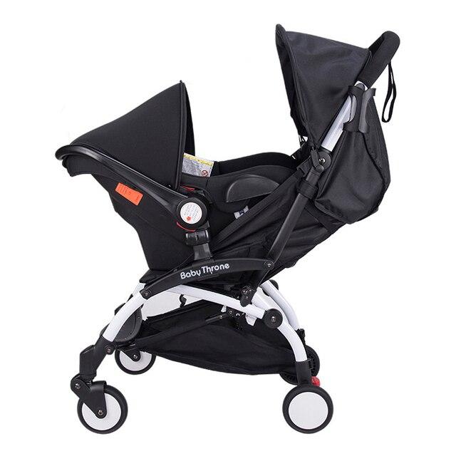 Portable Collapsible Baby Stroller 4 In 1 Aluminium Alloy Pram Lightweight