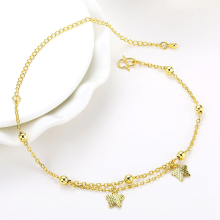 Wholesale New Fashion Women Fine Jewelry Woman Zircon Anklets Bracelet Female Foot Chain YMW-ZD086