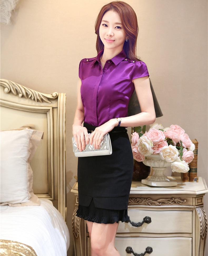Novelty Purple Slim Fashion Professional Women Work Suits Tops And ...