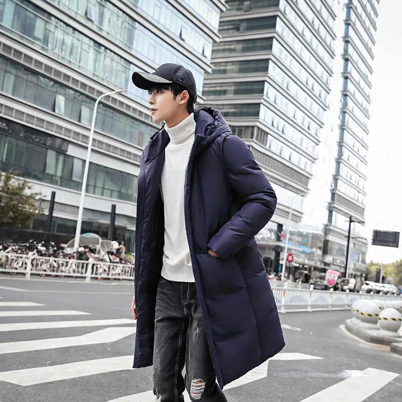 Высокое качество парка Для мужчин зимняя длинная куртка Для мужчин с капюшоном толстый хлопок-стеганая куртка Для мужчин s парка пальто мужские модные повседневные пальто 5XL