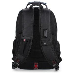 Image 5 - Sac de voyage en Polyester pour hommes, sac à dos suisse, sacoche imperméable antivol, sacoche de marque pour hommes, 2020 offre spéciale