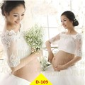 White Maternity Gown Lace Dress Photography Props Fancy Pregnancy Maternity Gown Photography Photo Women Long Dress