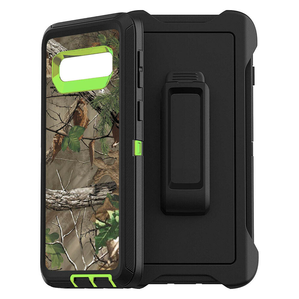 Camo Real Tree Defend Armor Case Cover For Samsung Galaxy S10 Plus S10e + Belt Clip Kickstand For Samsung S9 S8 Plus Note9 Note8